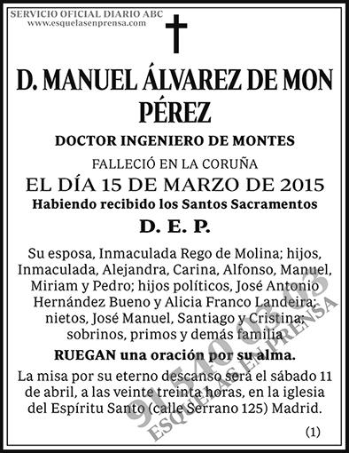 Manuel Álvarez de Mon Pérez